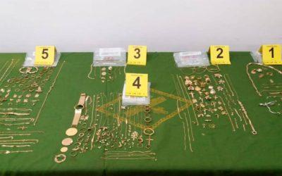 La Guardia Civil expondrá joyas recuperadas.